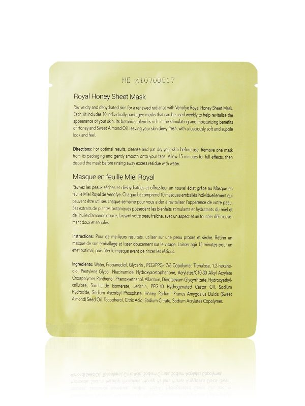 Royal Honey Sheet Mask sheet package details
