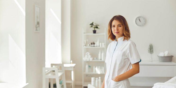 Dermatologist in office