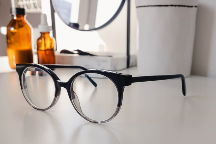 Glasses on counter
